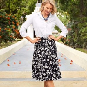 Talbots Scallop hem skirt with Bird Cage Design